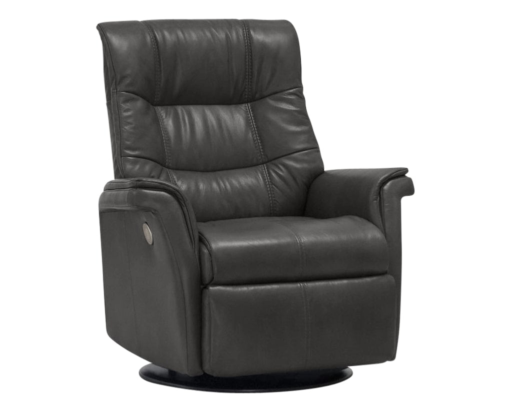 Sauvage Leather Anthracite | Norwegian Comfort Denver Recliner | Valley Ridge Furniture