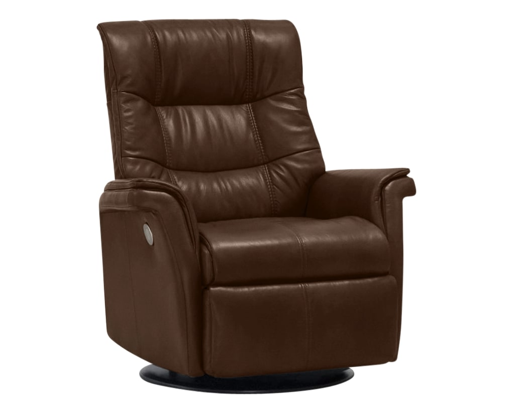 Sauvage Leather Caramel | Norwegian Comfort Denver Recliner | Valley Ridge Furniture