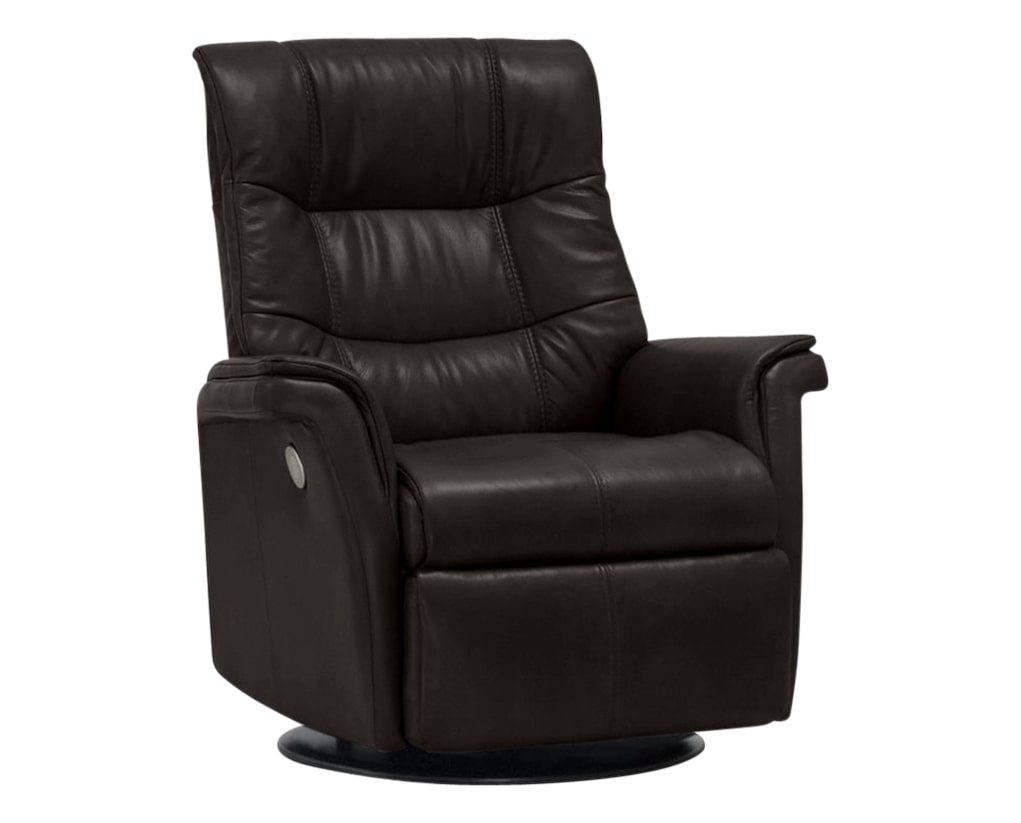 Sauvage Leather Truffle | Norwegian Comfort Denver Recliner | Valley Ridge Furniture