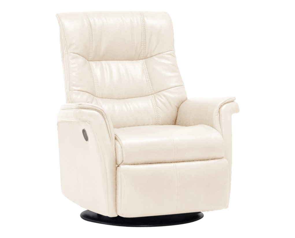Trend Leather Snow | Norwegian Comfort Denver Recliner | Valley Ridge Furniture