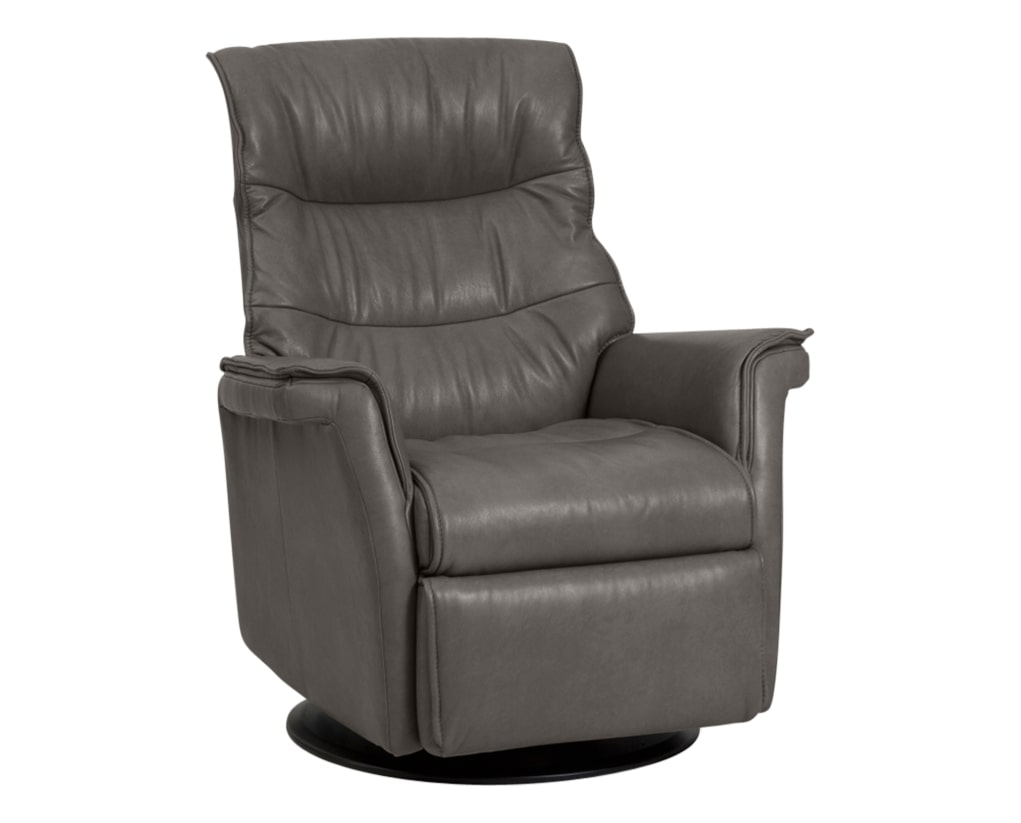 Trend Leather Graphite | Norwegian Comfort Chelsea Recliner | Valley Ridge Furniture