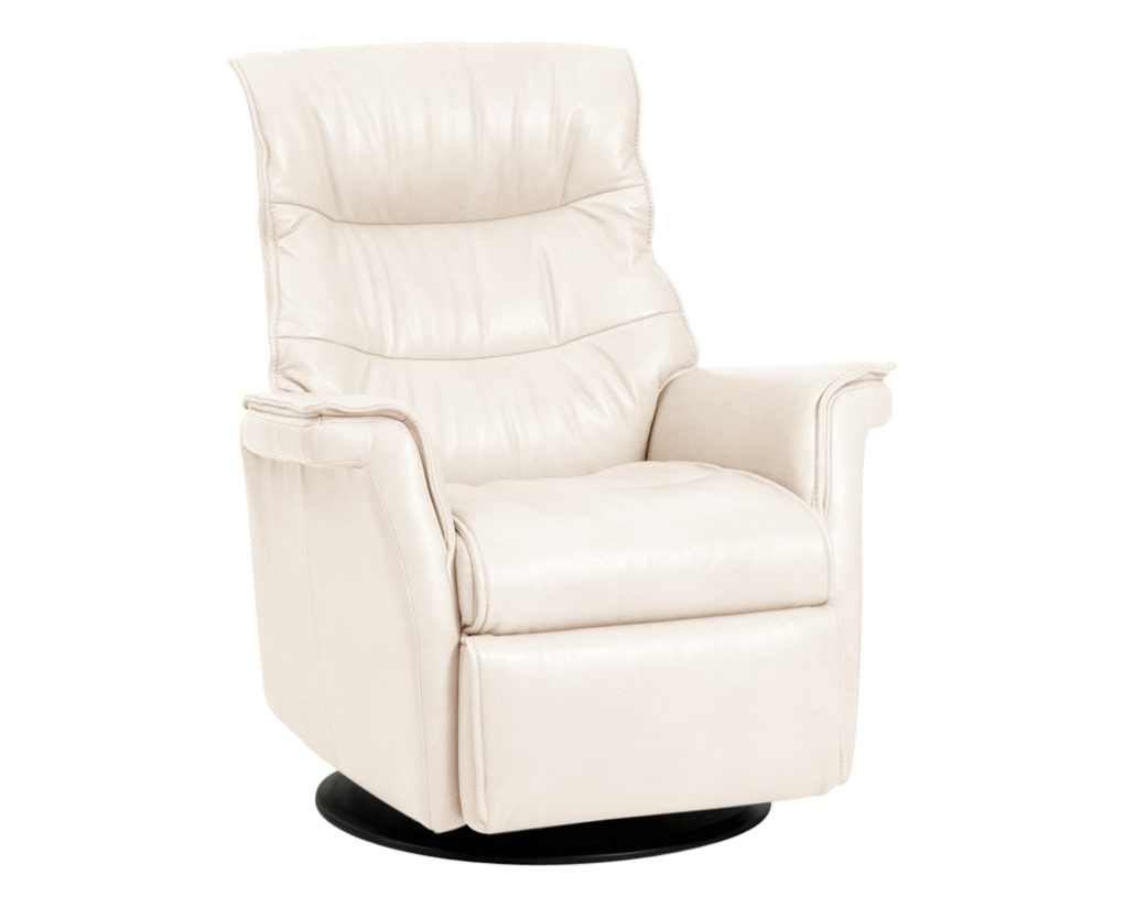 Trend Leather Snow | Norwegian Comfort Chelsea Recliner | Valley Ridge Furniture