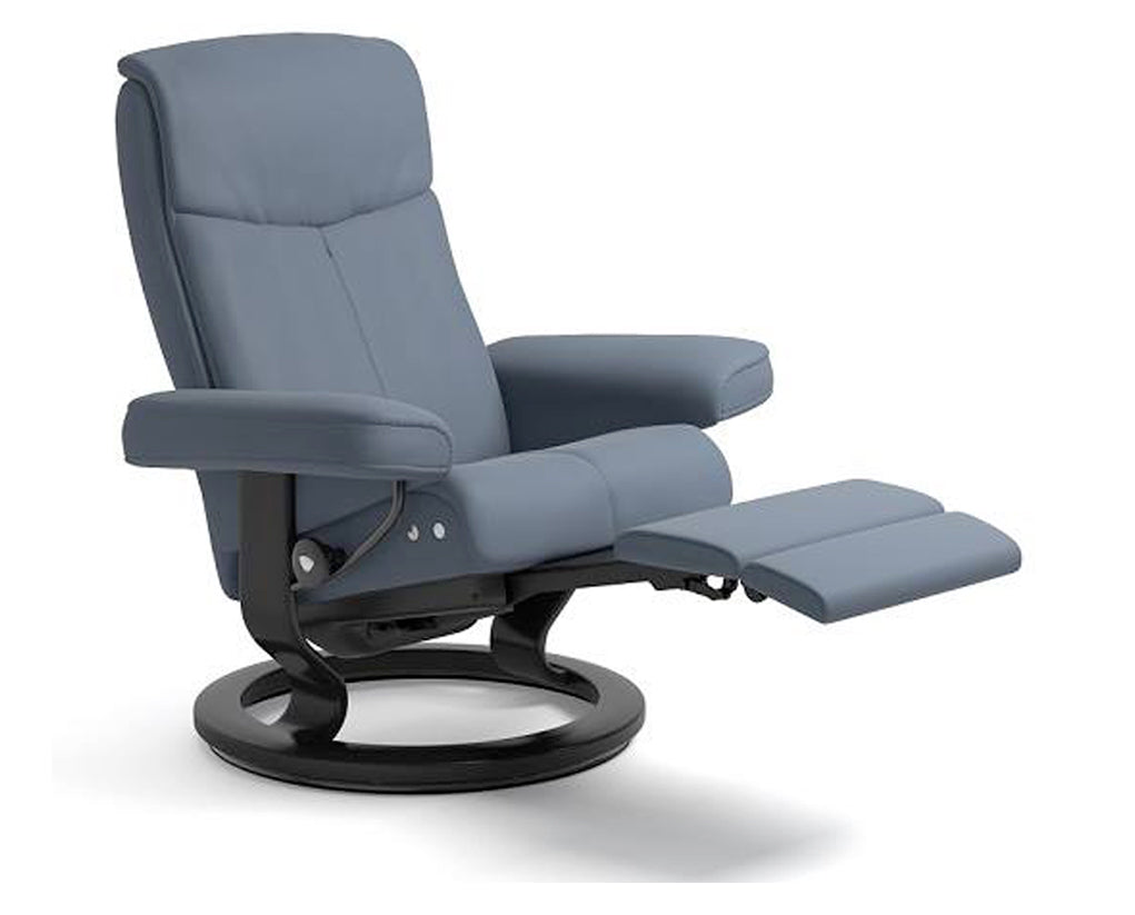 Paloma Sparrow Blue | Stressless Peace LegComfort Recliner