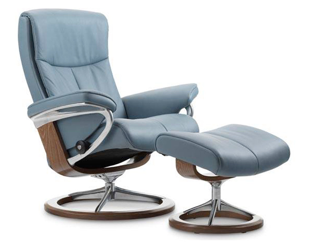 Paloma Sparrow Blue | Stressless Peace Signature Recliner