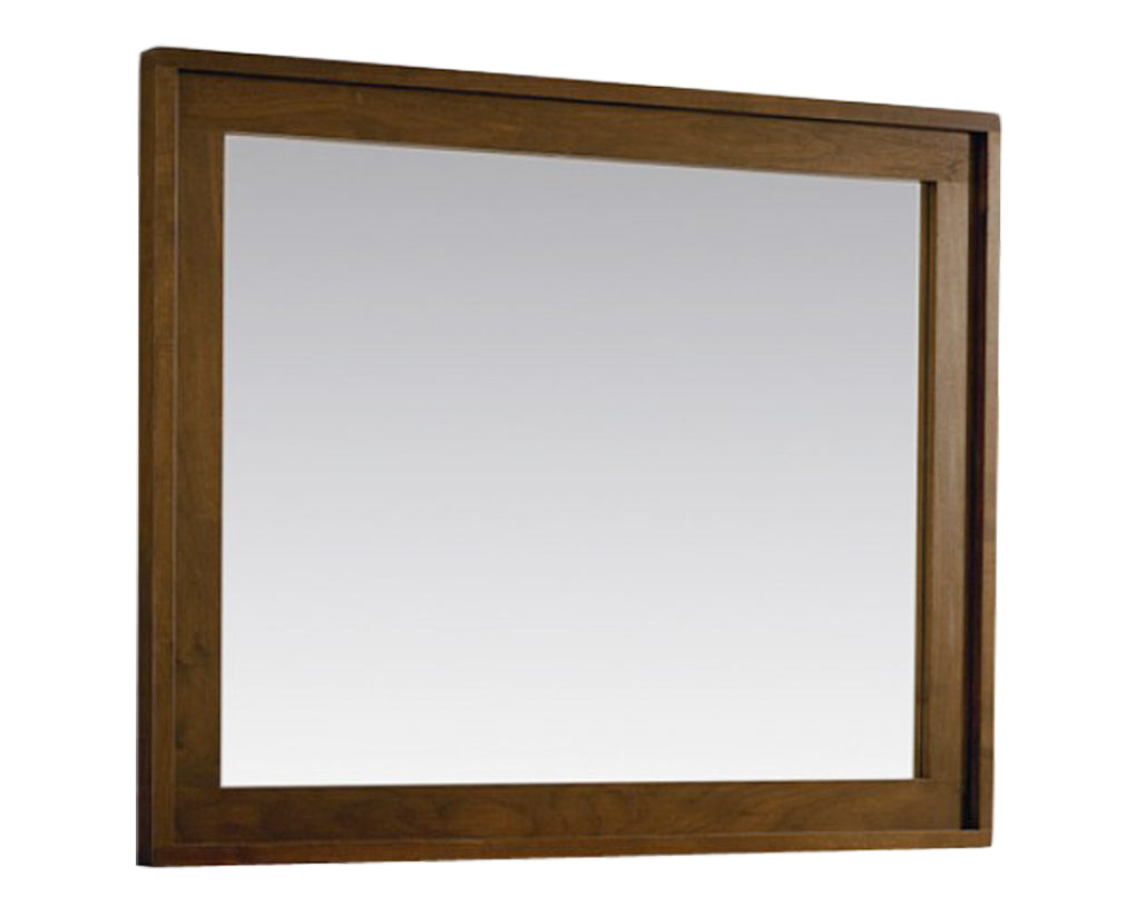 Walnut | West Bros Phase Rectangular Mirror