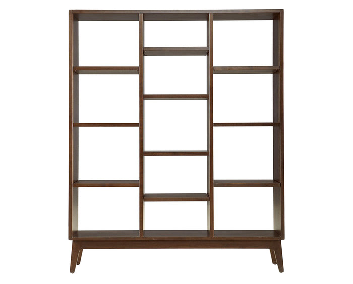 Walnut | West Bros Serra Triple Bookcase