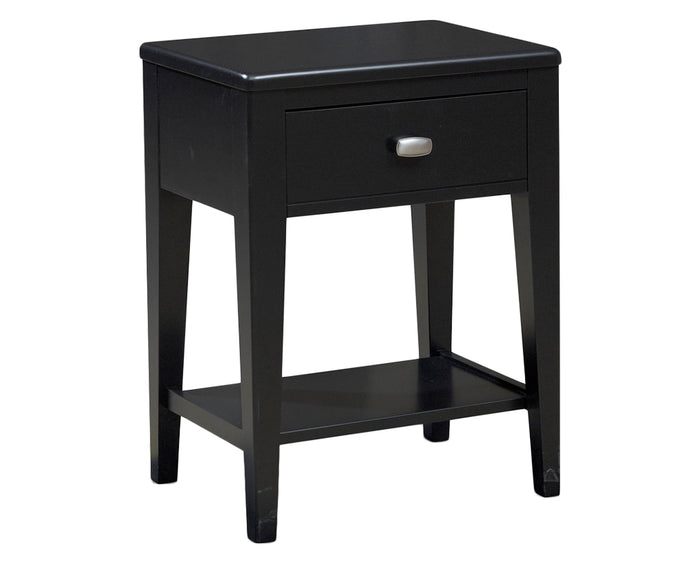 Solid Black | Durham Perfect Balance West End 1 Drawer Night Stand