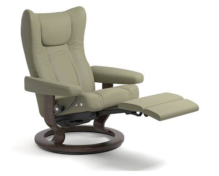 Paloma Olive | Stressless Wing LegComfort Recliner