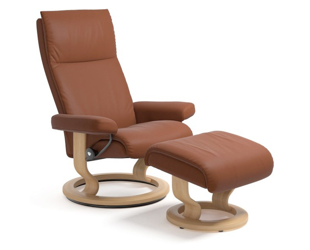 Paloma Copper | Stressless Aura Classic Recliner