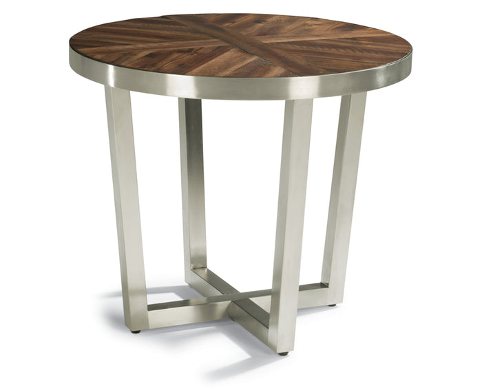 Rustic Acacia | Flexsteel Axis Lamp Table