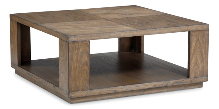 Warm Brown | Flexsteel Maximus Square Coffee Table
