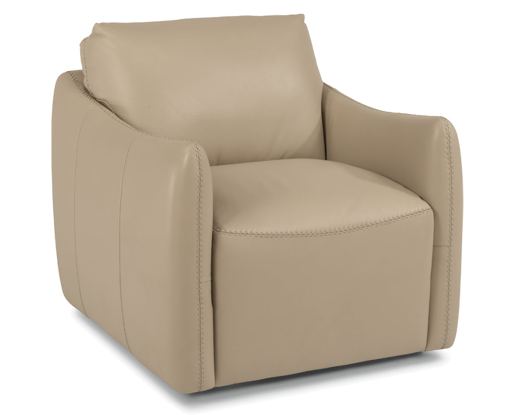 577-82 | Flexsteel Morgan Swivel Leather Chair