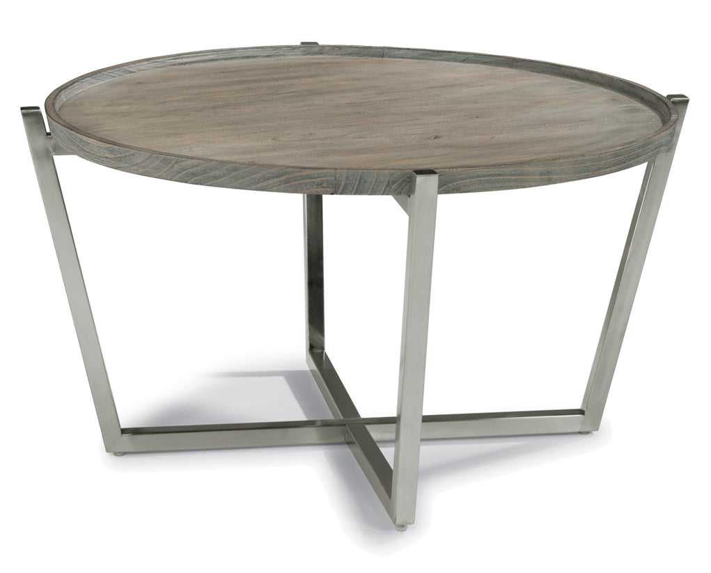 Gray | Flexsteel Platform Round Coffee Table