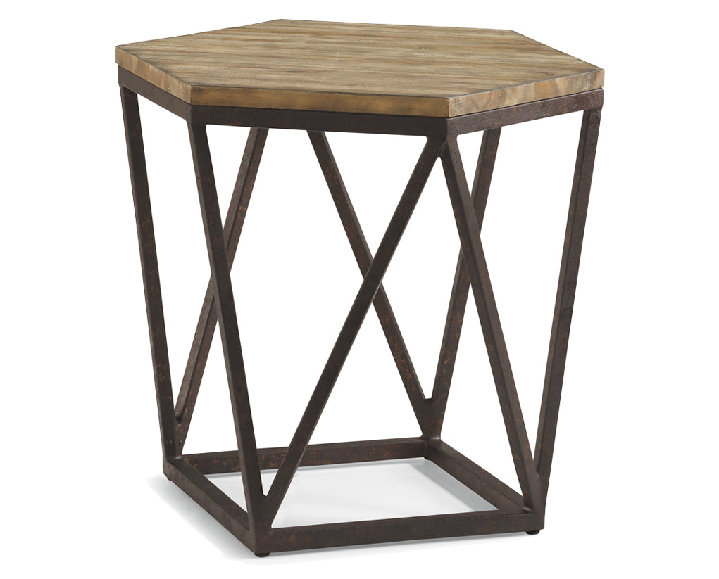 Light Acacia | Flexsteel Spectrum Lamp Table