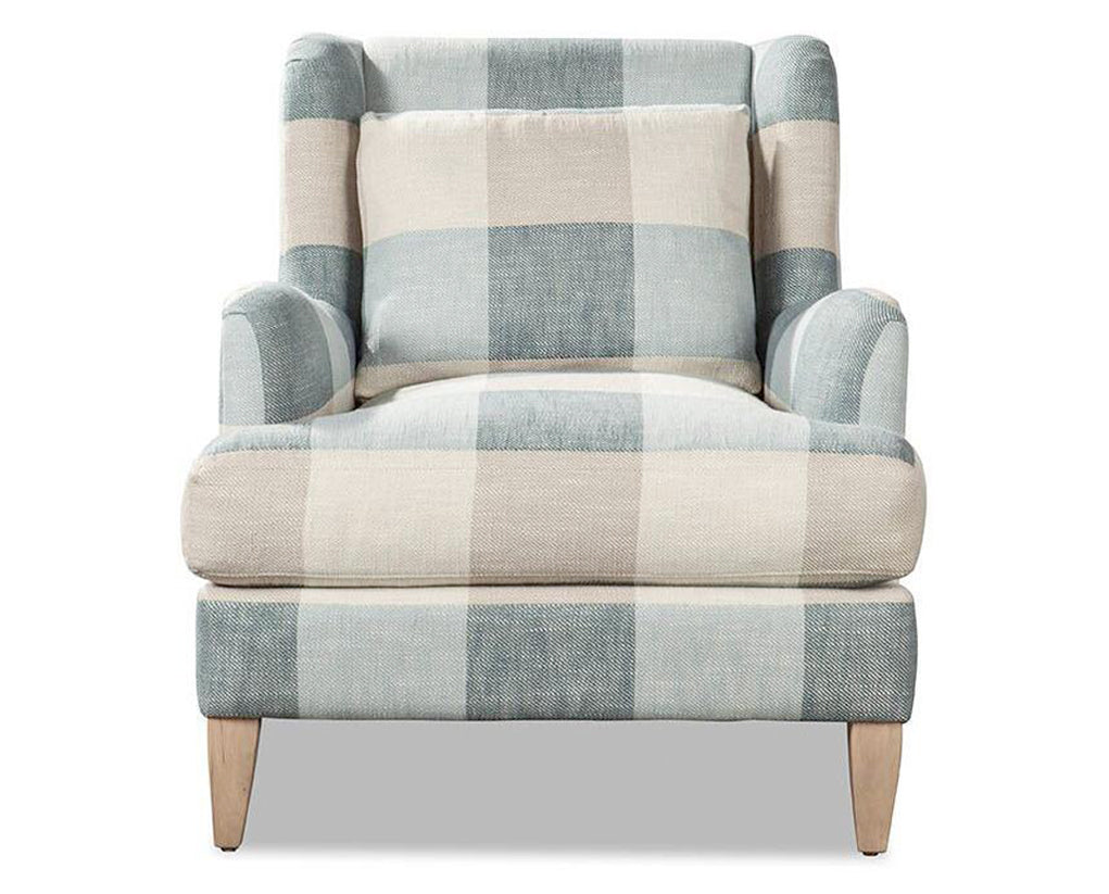 Blue and Taupe | Younger Gentry Chair