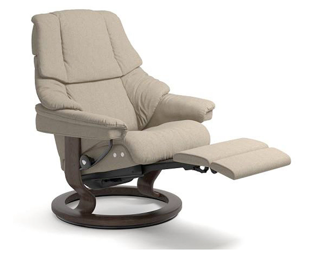 Calido Light Beige | Stressless Reno LegComfort Recliner