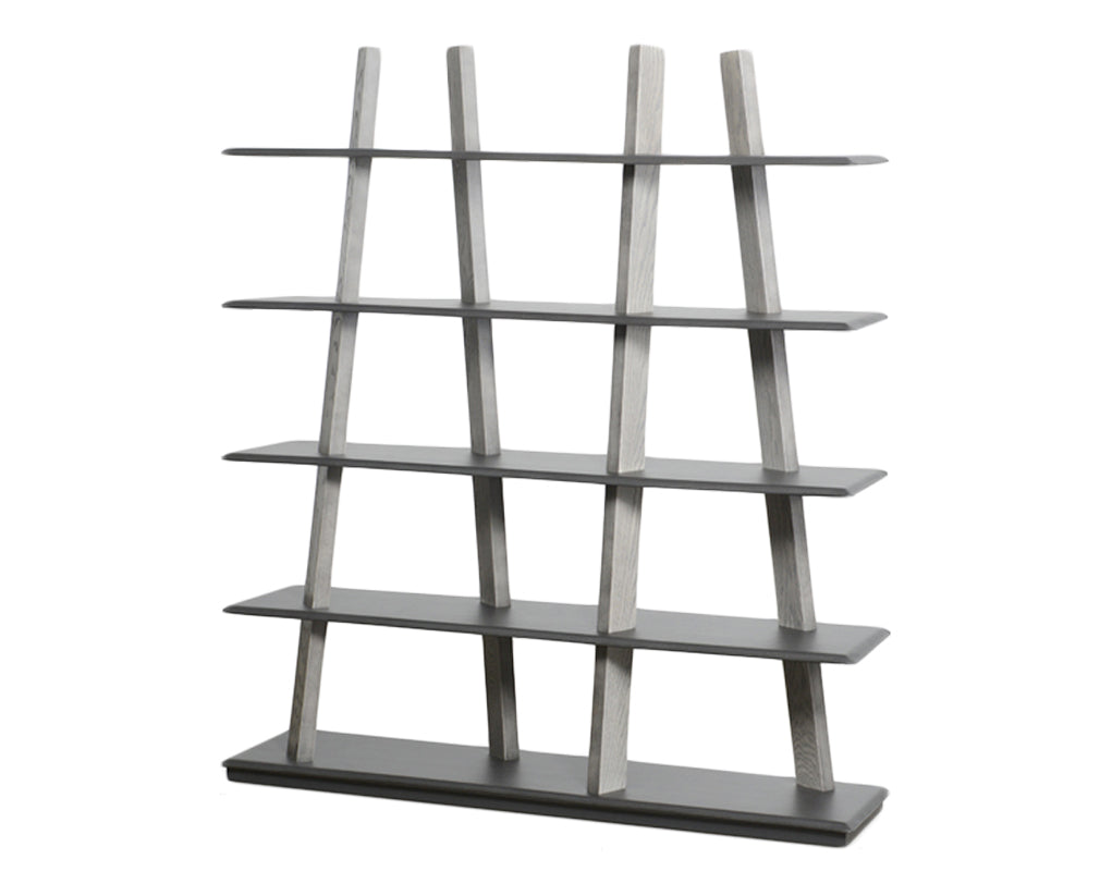 Carbon and Grey Oak | Trica Sticks Shelving Unit