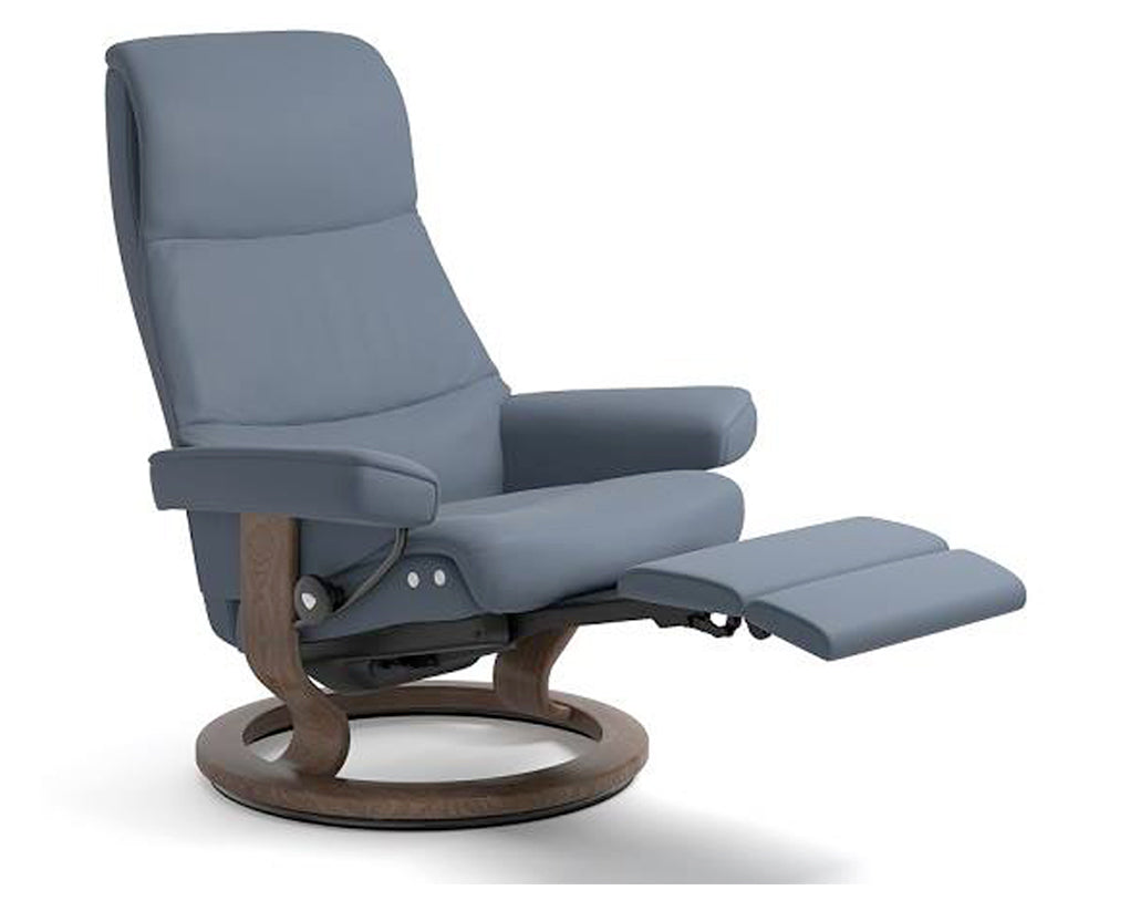 Paloma Sparrow Blue | Stressless View LegComfort Recliner