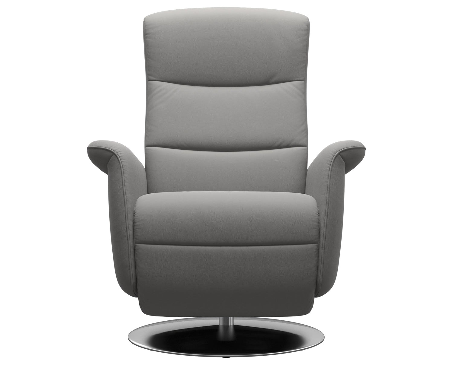 Paloma Leather Silver Grey S/M/L & Steel Base | Stressless Mike Recliner | Valley Ridge Furniture