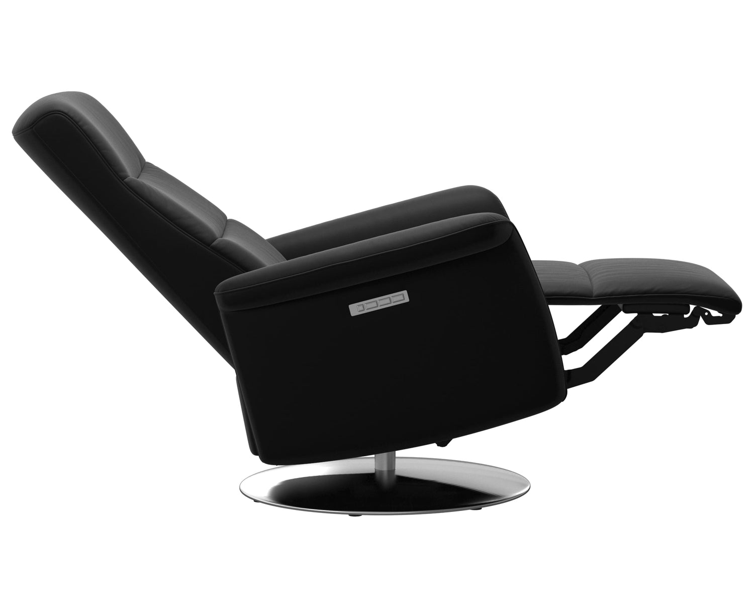 Paloma Leather Black S/M/L & Steel Base | Stressless Mike Recliner | Valley Ridge Furniture