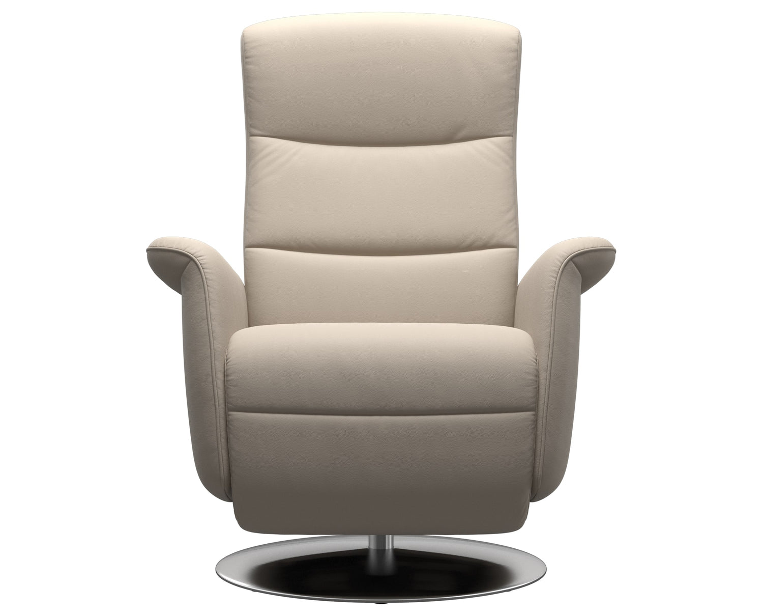 Paloma Leather Fog S/M/L & Steel Base | Stressless Mike Recliner | Valley Ridge Furniture