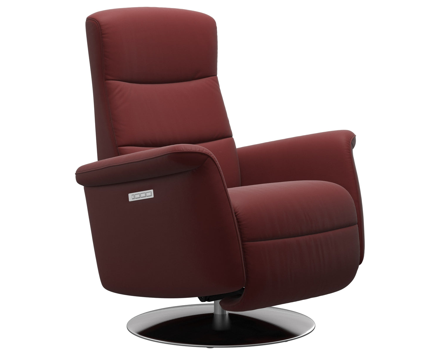 Paloma Leather Cherry S/M/L & Steel Base | Stressless Mike Recliner | Valley Ridge Furniture