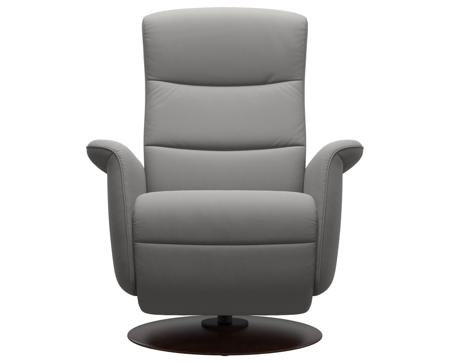 Paloma Leather Silver Grey S/M/L & Brown Base | Stressless Mike Recliner | Valley Ridge Furniture