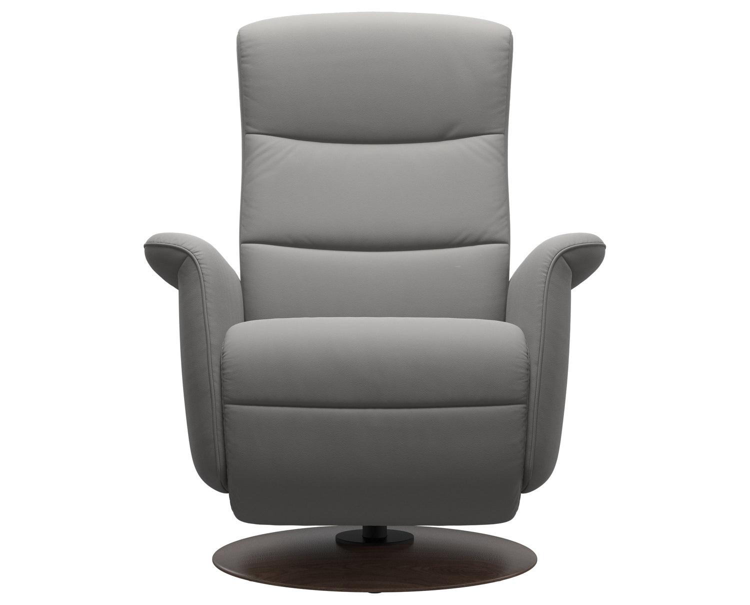 Paloma Leather Silver Grey S/M/L & Wenge Base | Stressless Mike Recliner | Valley Ridge Furniture