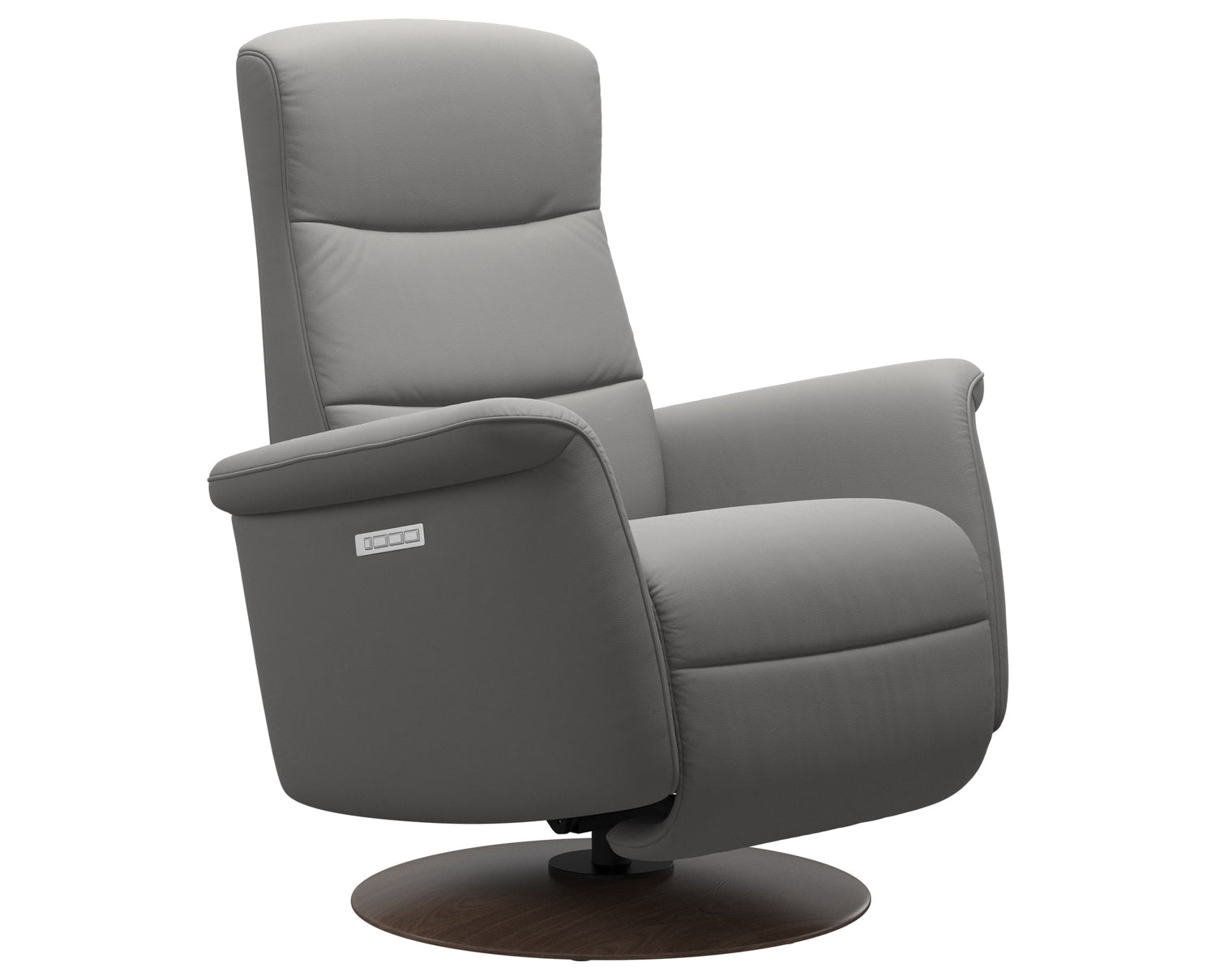 Paloma Leather Silver Grey S/M/L & Walnut Base | Stressless Mike Recliner | Valley Ridge Furniture