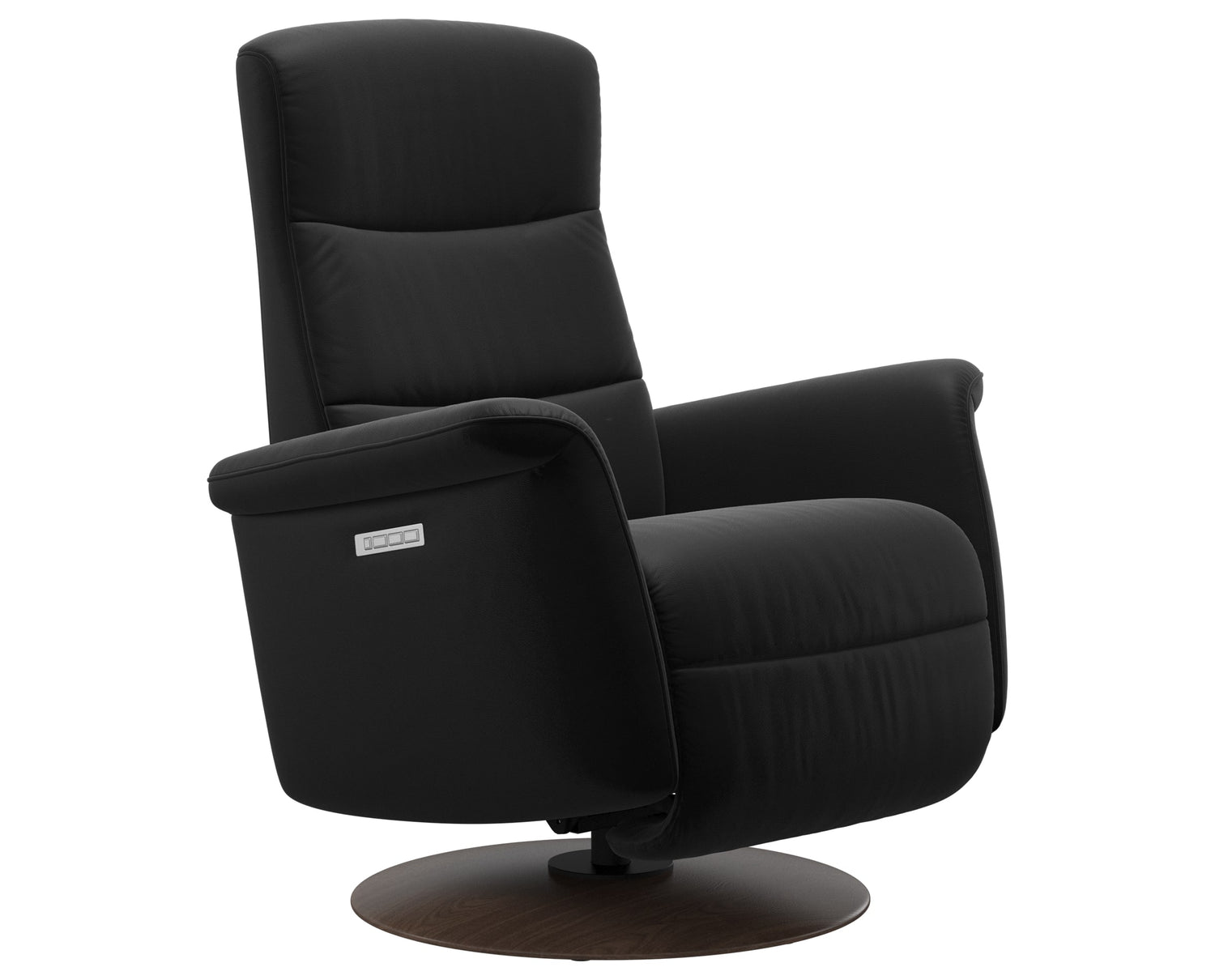 Paloma Leather Black S/M/L & Walnut Base | Stressless Mike Recliner | Valley Ridge Furniture