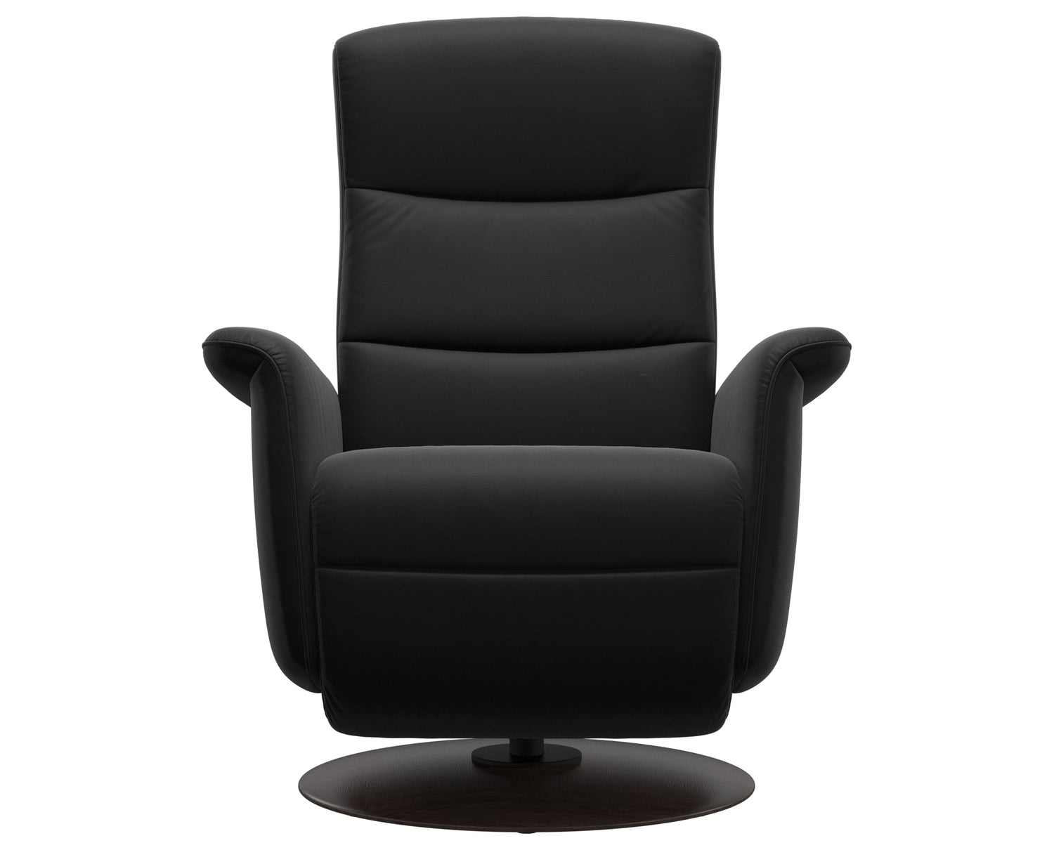 Paloma Leather Black S/M/L & Wenge Base | Stressless Mike Recliner | Valley Ridge Furniture