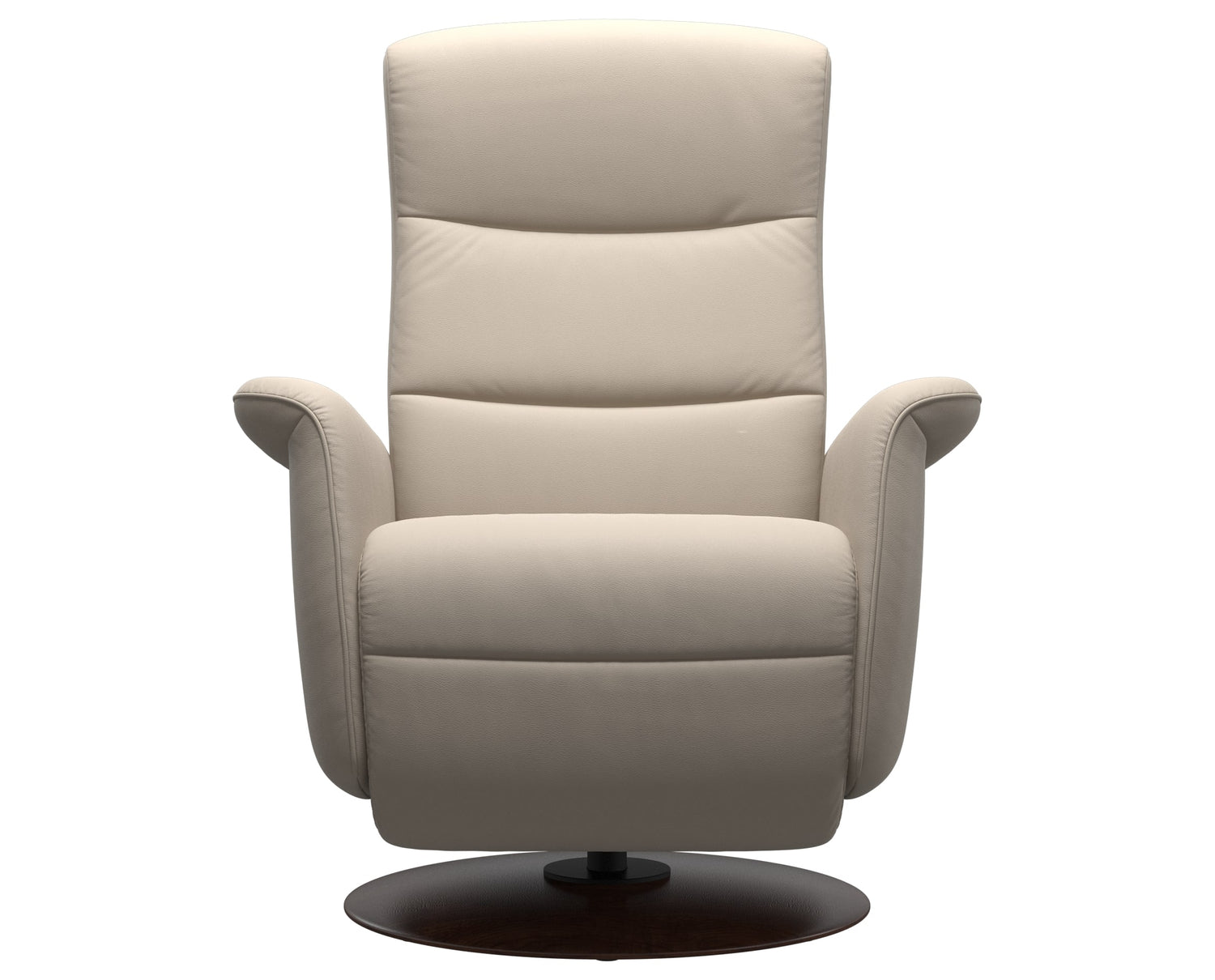 Paloma Leather Fog S/M/L & Brown Base | Stressless Mike Recliner | Valley Ridge Furniture