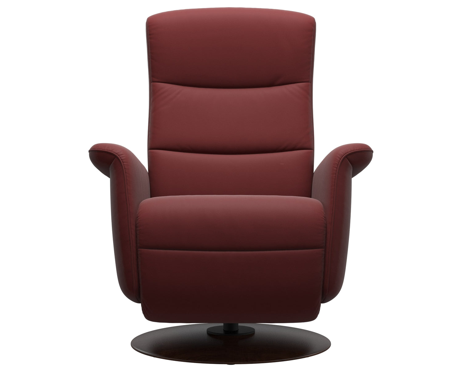 Paloma Leather Cherry S/M/L & Brown Base | Stressless Mike Recliner | Valley Ridge Furniture