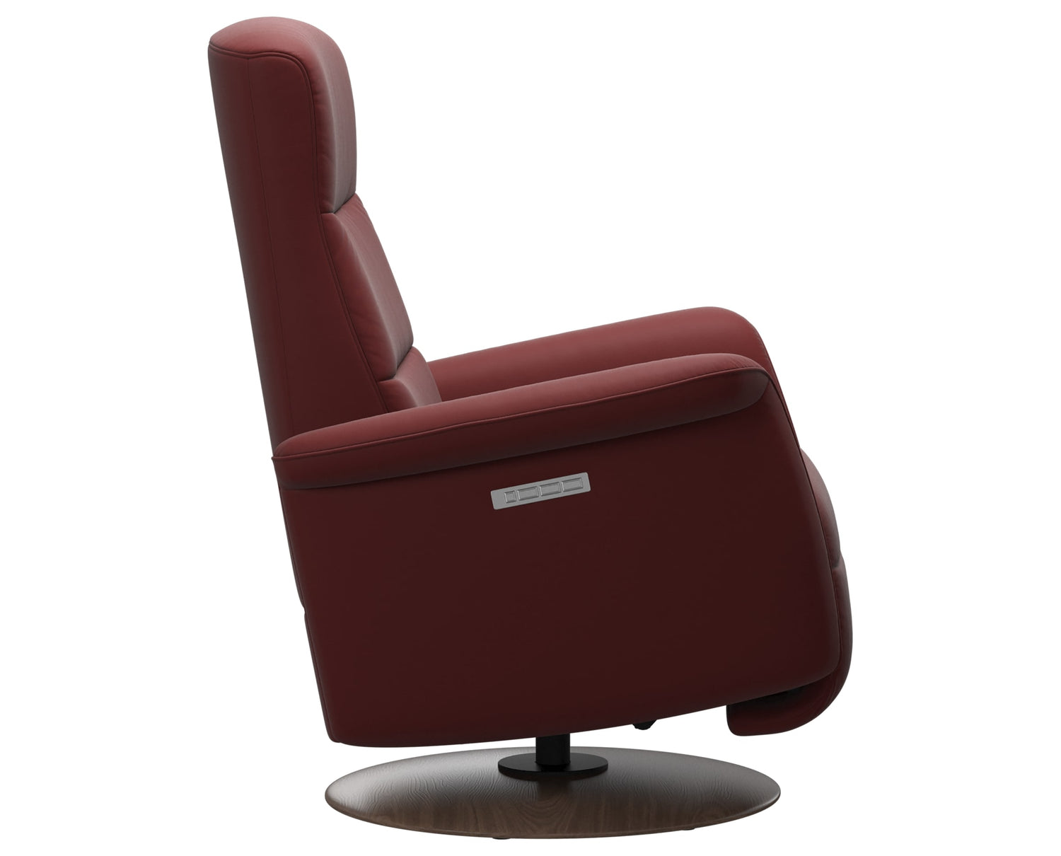 Paloma Leather Cherry S/M/L & Walnut Base | Stressless Mike Recliner | Valley Ridge Furniture