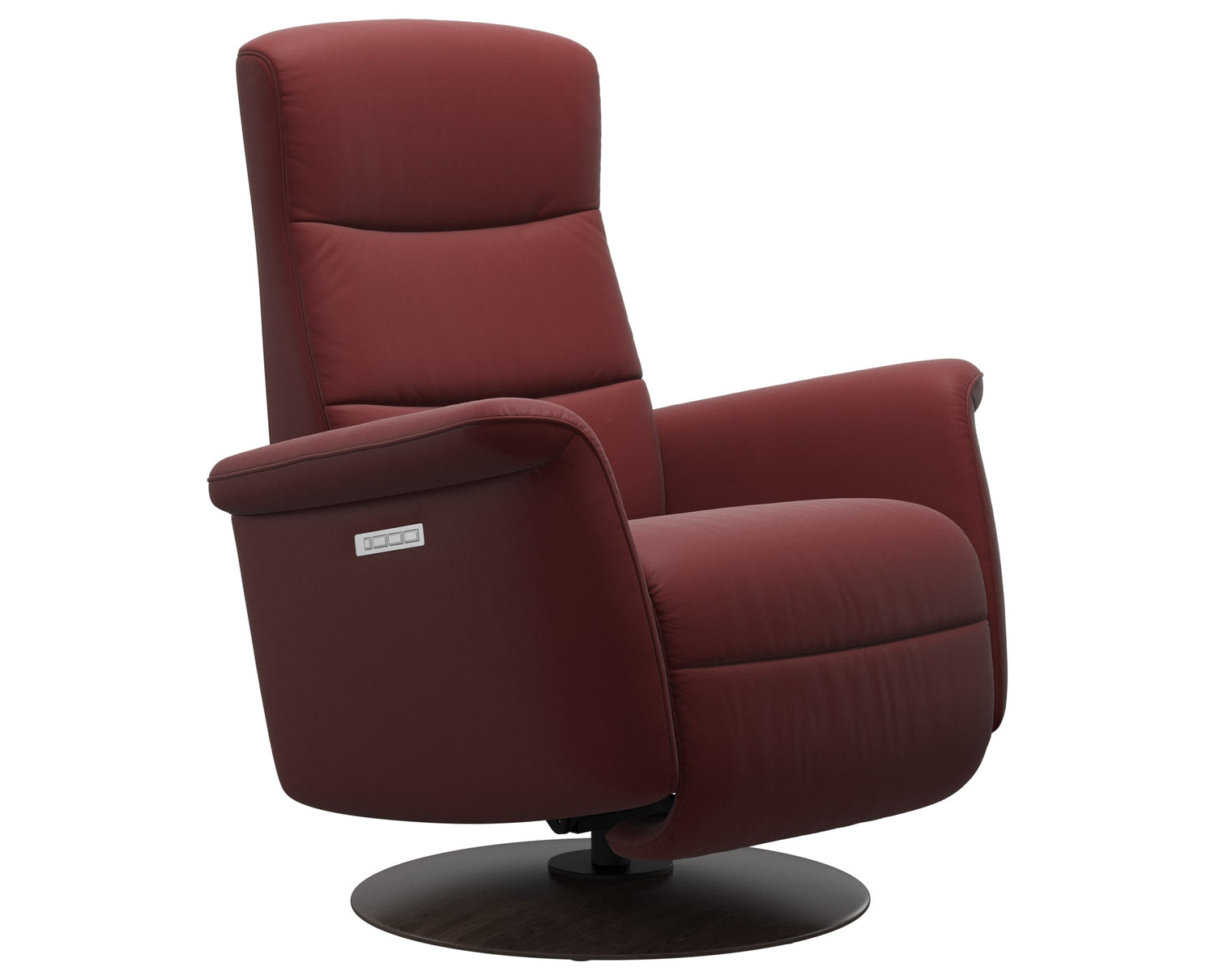 Paloma Leather Cherry S/M/L & Wenge Base | Stressless Mike Recliner | Valley Ridge Furniture