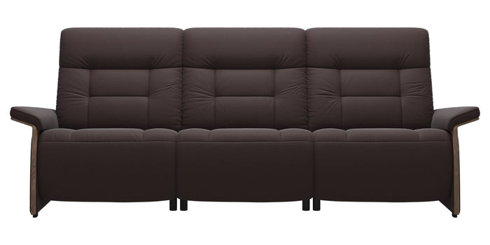 Paloma Leather Chocolate & Walnut Arm Trim | Stressless Mary 3-Seater Sofa | Valley Ridge Furniture