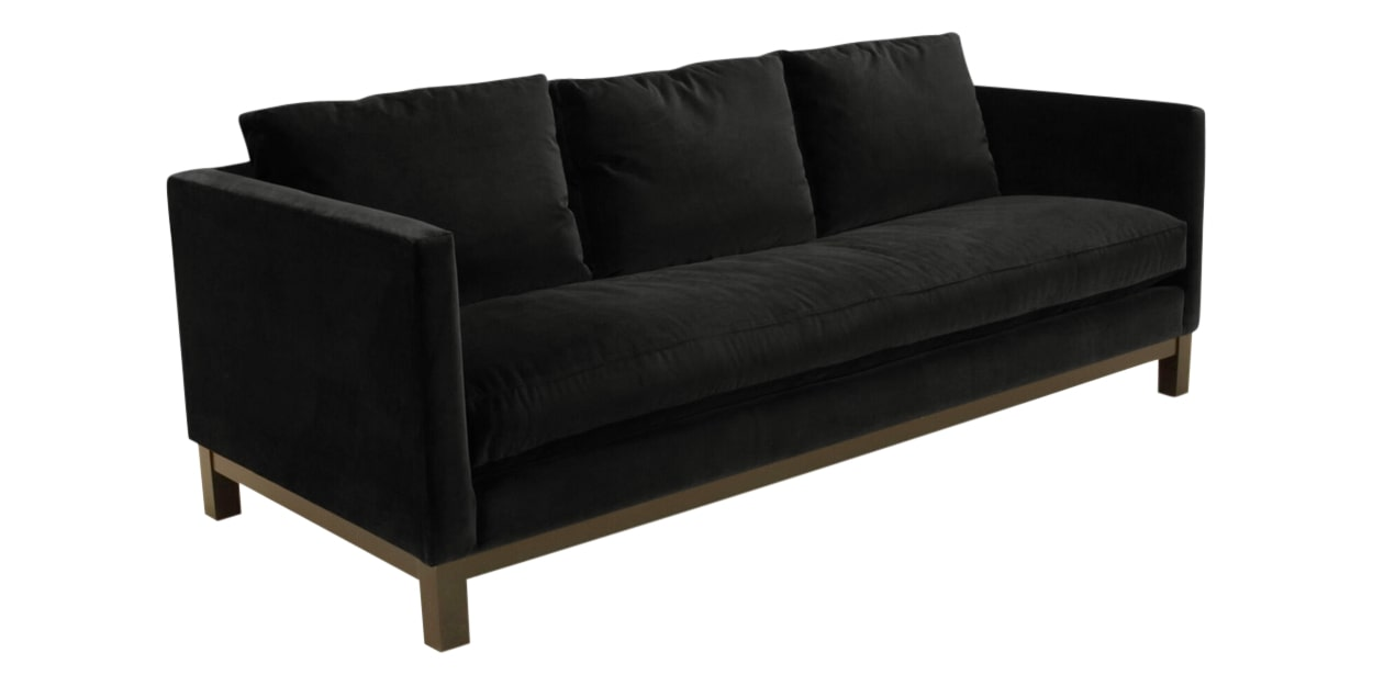 View Fabric Black | Camden Harper Sofa | Valley Ridge Furniture