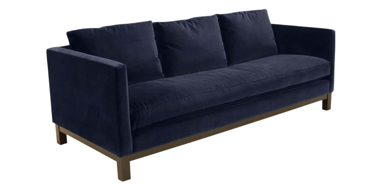 View Fabric Navy | Camden Harper Sofa | Valley Ridge Furniture