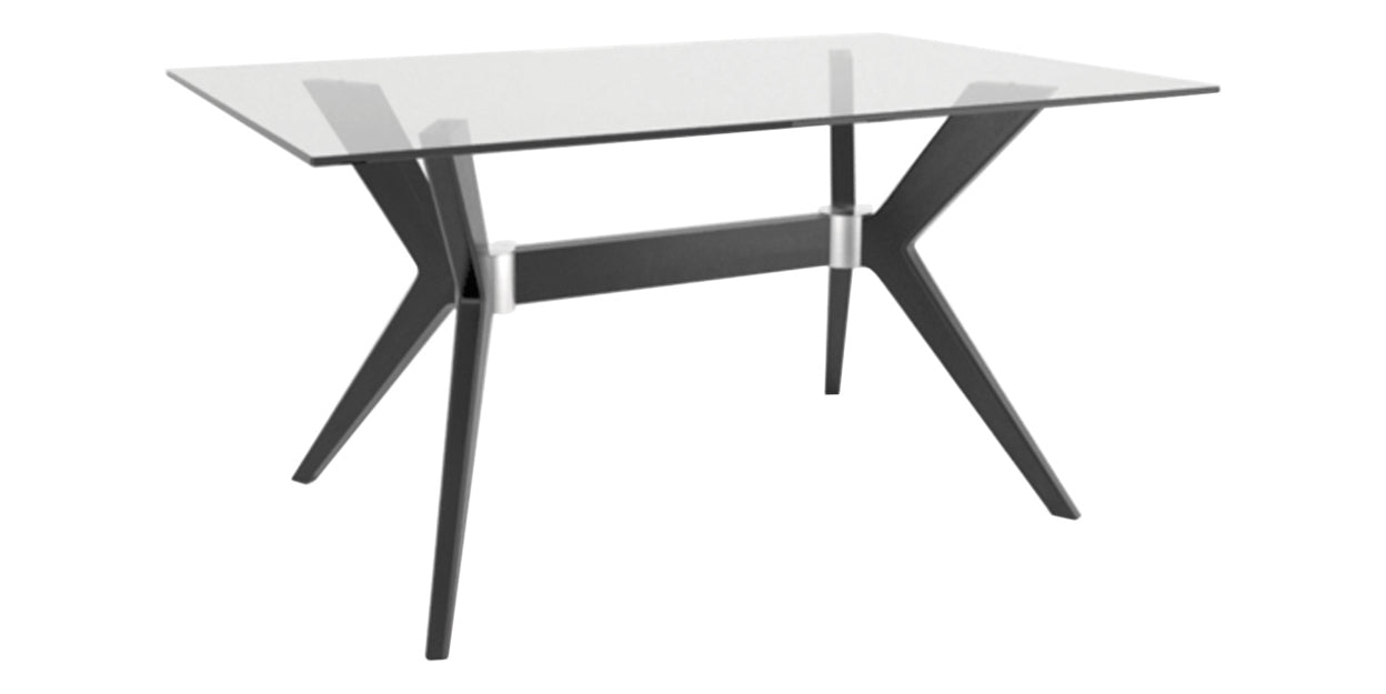 CL Air | Canadel Downtown Glass Top Dining Table 4060 DP Base
