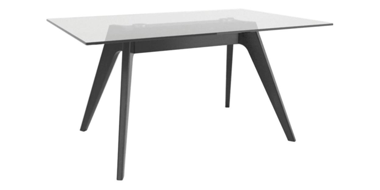 CL Air | Canadel Downtown Glass Top Dining Table 4060 DQ Base