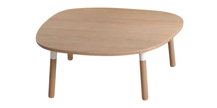 Cotton and Natural Oak | Trica Cloud Accent Table