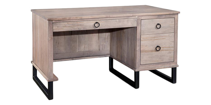 Oyster | Handstone Cumberland Single Pedestal Desk