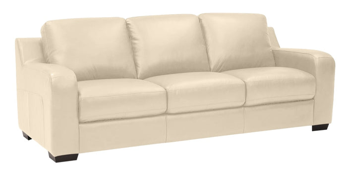 Broadway Leather Alabaster | Palliser Furniture Flex Sofa | Valley Ridge Furniture
