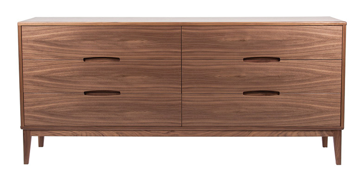 Natural Walnut | Mobican Leila Double Dresser