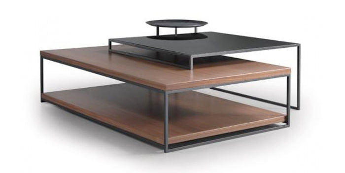 Anthracite and Natural Walnut | Trica Mix It Up Coffee Table Collection