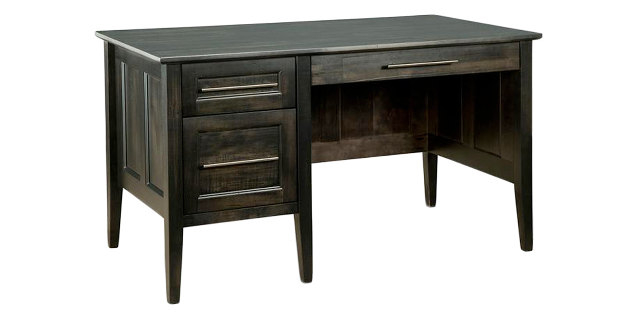 Platinum | Handstone Stockholm Single Pedestal Desk