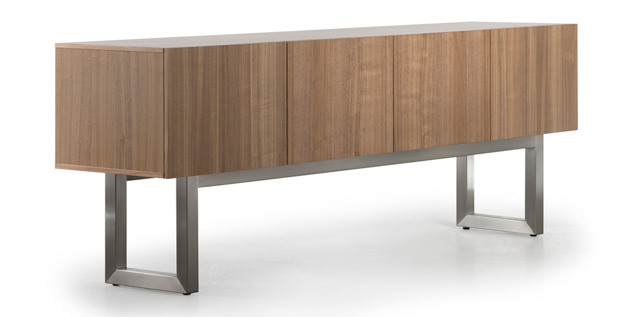 Brushed Steel and Natural Walnut | Trica Urbana Buffet