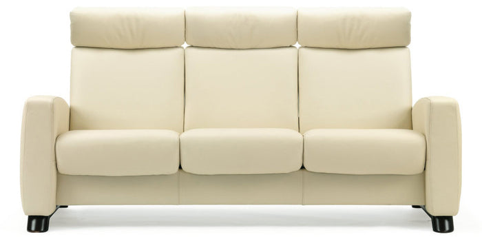 Paloma Vanilla | Stressless Arion High Back Sofa