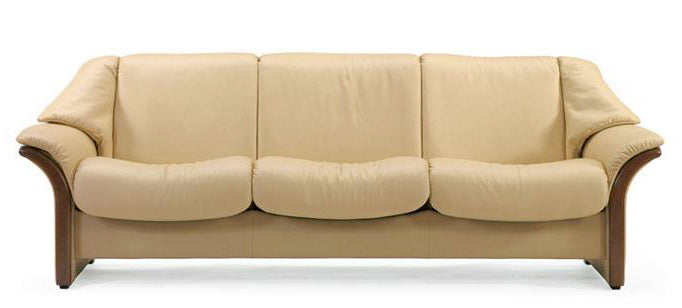 Paloma Vanilla | Stressless Eldorado Low Back Sofa