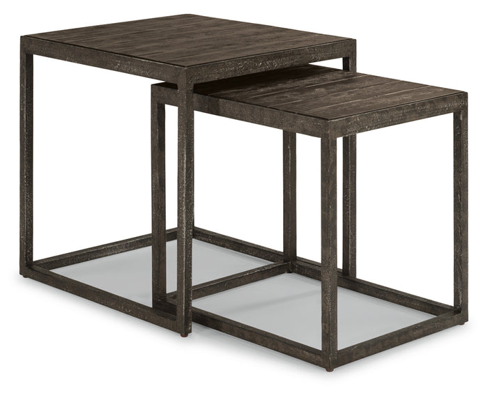 Cast Iron | Flexsteel Canyon Square Nesting Table